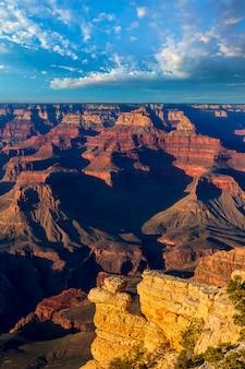 Arizona-sonnenuntergang grand canyon national park yavapai point