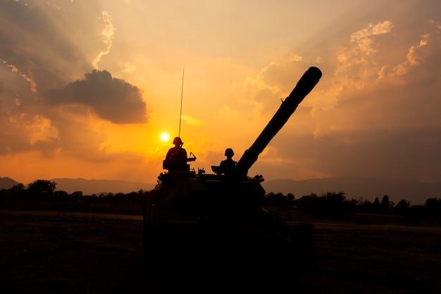 Armeepanzer silhouette