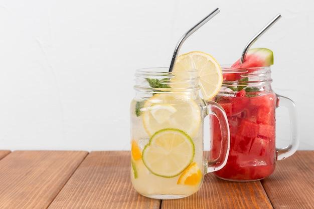 Aroma von zitronen- und wassermelonengetränken