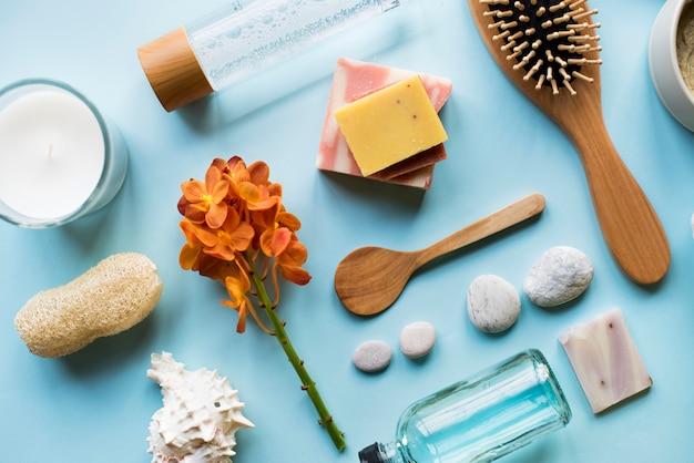 Aromatherapie-pflegeprodukte für die hautpflege