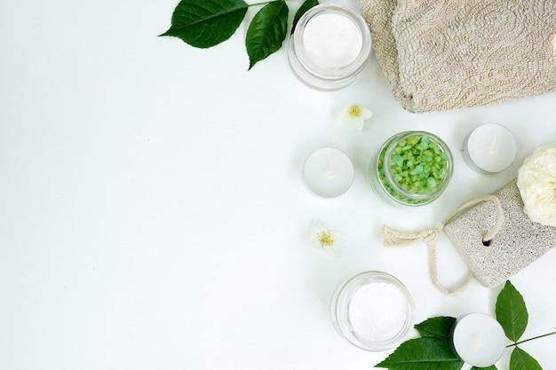 Aromatisches meersalz des spa, handgemachte natürliche spa-produkte