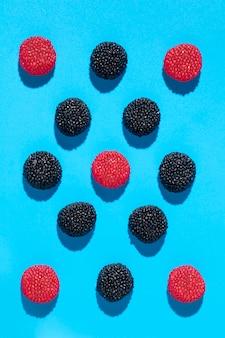 Arrangement köstlicher süßer bonbons