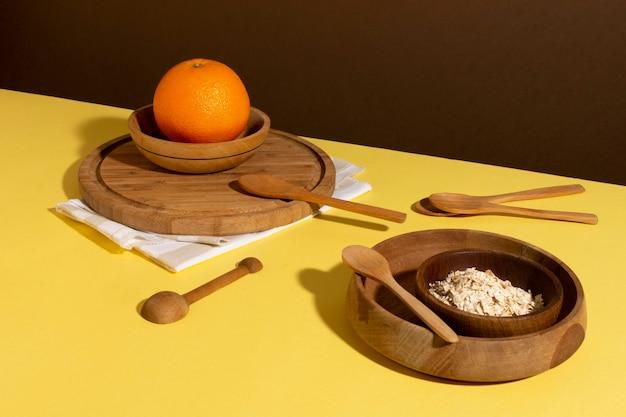 Arrangement von leckerem gesundem essen