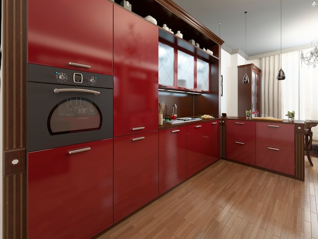 Art-deco-stil der küche