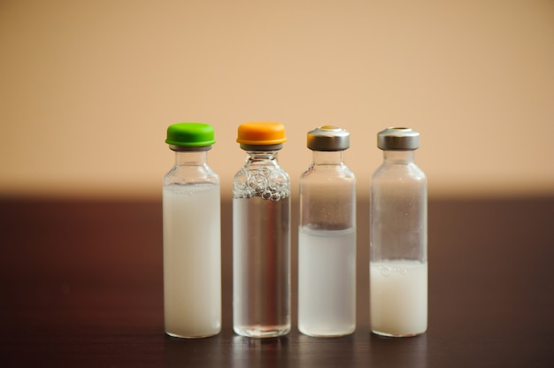 Arten von insulinen für diabetes, gesundheitswesen und menschenkonzept.