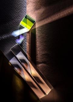 Arten von prismen und lichtern draufsicht