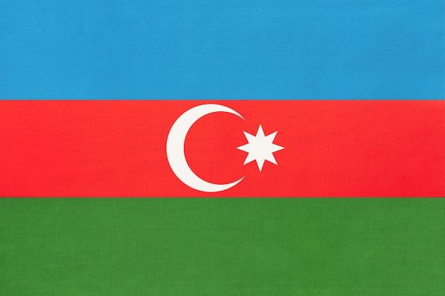 Aserbaidschan national stoff flagge textil hintergrund.