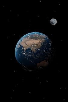 Asia planet eart wallpaper