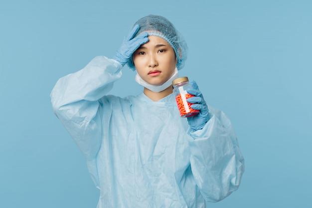 Asiatische ärztin grippe und virus in china, coronavirus 2019-ncov