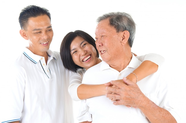 Asiatische familie