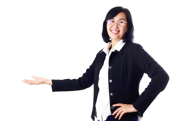Asiatische geschäftsfrau des asiatischen mittelalters