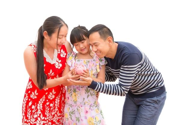 Asiatischer mann und frau mit ihrer tochter