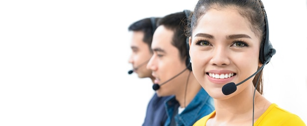Asiatisches call-center-team