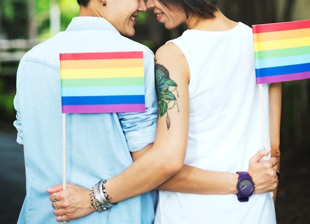 Asiatisches lesbisches paar lgbt