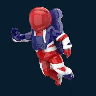 Astronautenkonzept - 3d-illustration