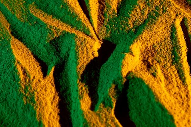 Asymmetrischer sand formt draufsicht