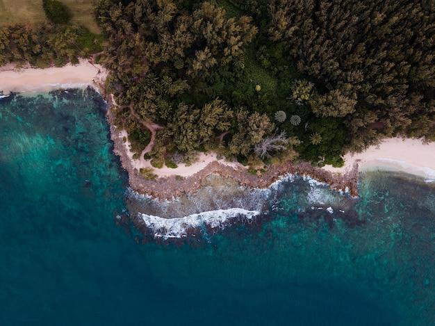 Atemberaubende hawaii-landschaft mit dem blauen meer