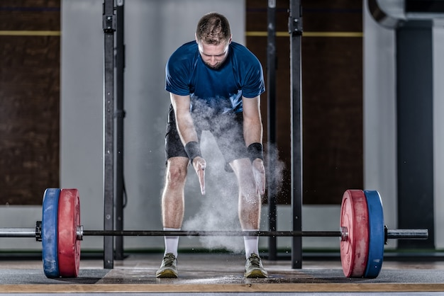 Athlet im gewichtheben