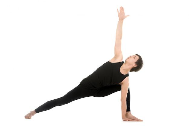 Athlet tut ein yoga-pose