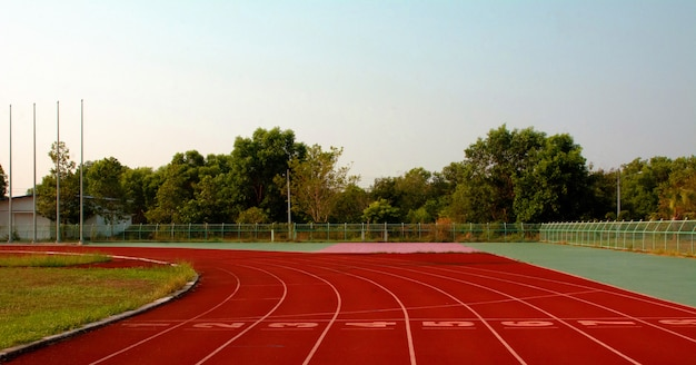 Athletenbahn oder laufbahn