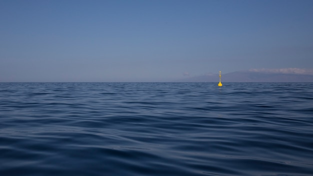Atlantik in teneriffa mit der gomera-insel