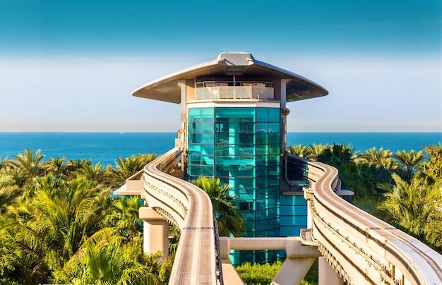 Atlantis monorail station in dubai - vereinigte arabische emirate