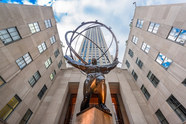 Atlas-statue im rockfeller center