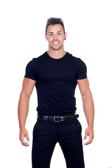 Attraktive männer in schwarz