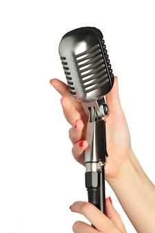 Audio mikrofon retro-stil