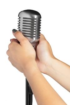Audio-mikrofon retro-stil