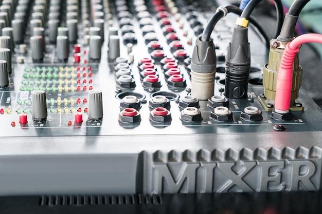 Audio-mixer-musik. adjist sound nach volumen.