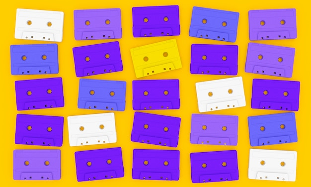 Audiokassette auf gelb