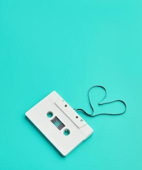 Audiokassette, film, der herz formt