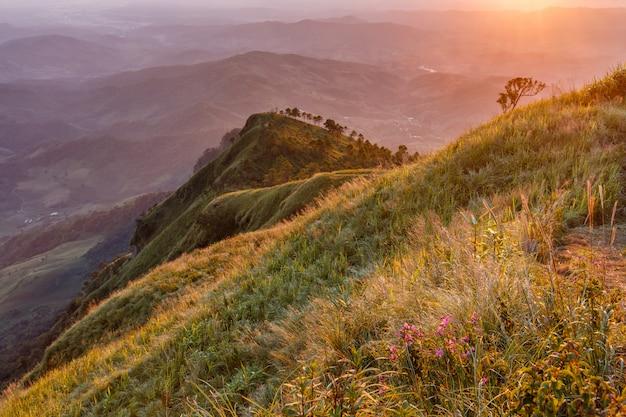 Auf draufsicht phu lanka mountain