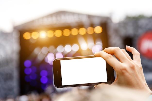 Auf einem mobiltelefon fotografieren