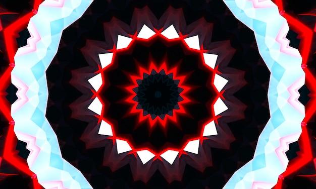 Auffälliges kaleidoskop, abstraktes design, das surreal, stark, intensiv, dynamisch und kraftvoll ist, für banner, poster, flyer, tapeten, einladungen, hintergründe, websites, werbung, zeitschriften.