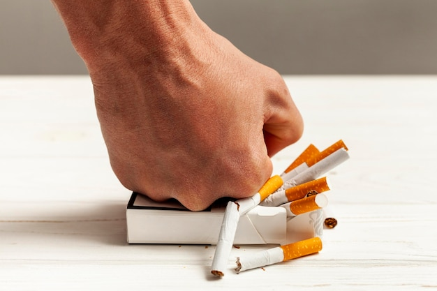 Aufhören zu rauchen nachricht