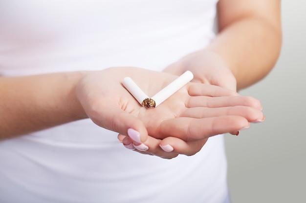 Aufhören zu rauchen.