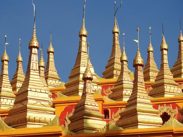 Aufnahme der thanboddhay pagode mandalay myanmar