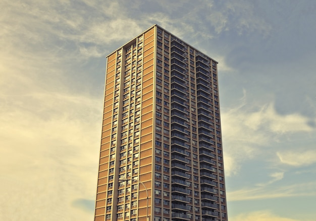 Aufnahme eines hochhauses
