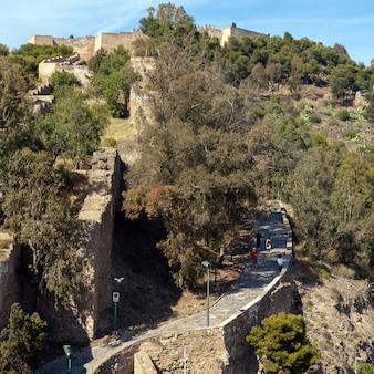 Aufstieg nach gibralfaro in malaga