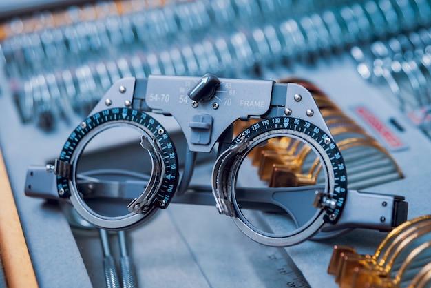 Augenausrüstung. medizinisches labor. moderne medizintechnik.