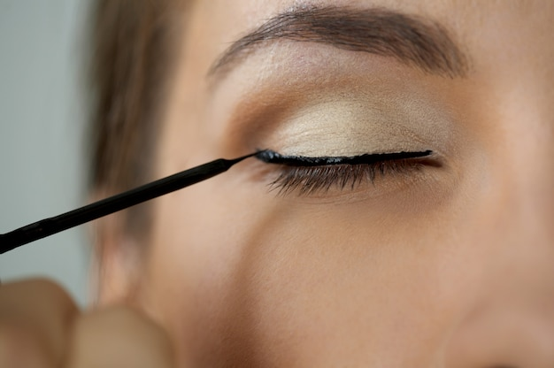Augenzonen make-up
