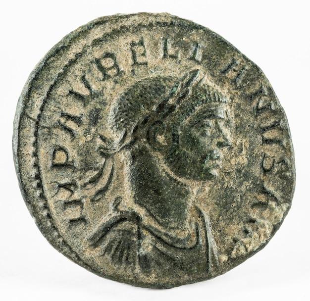 Aurelian. römische münze.