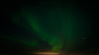 Aurora borealis, nord-, höhen-