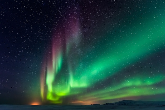 Aurora borealis nordlichter