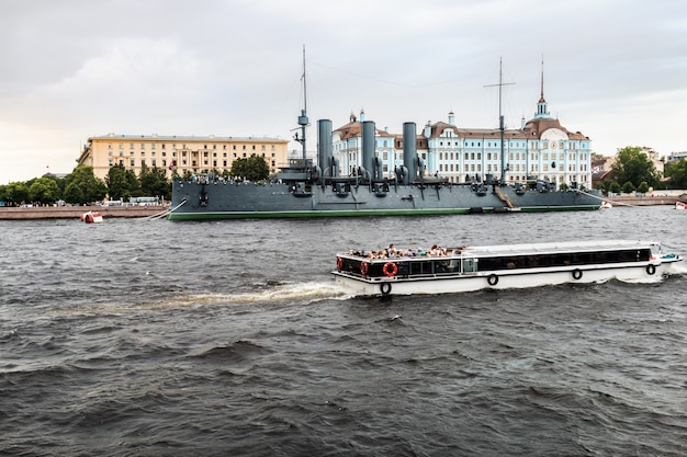 Aurora ist ein russischer geschützter kreuzer, der derzeit noch erhalten ist
