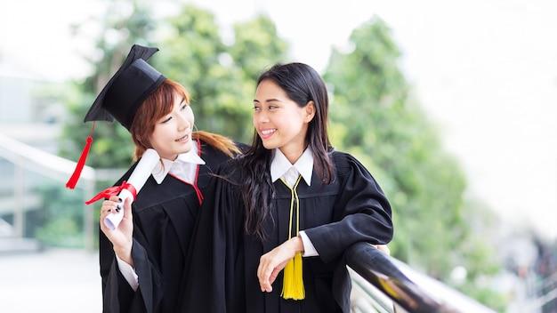 Ausbildung, abschlusskonzept mit dem studenten glücklich nach ende th