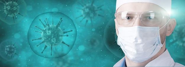 Ausbruch des corona-virus. epidemisches virus-atemwegssyndrom.