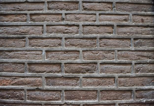 Ausführliche alte braune backsteinmauerhintergrundbeschaffenheit